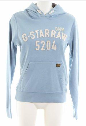 G-Star Raw Jersey con capucha crema-azul claro
