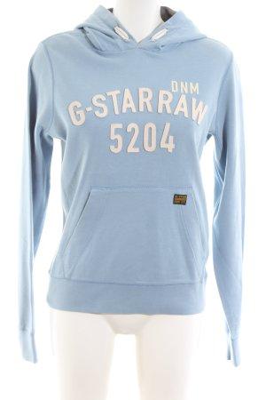 G-Star Raw Jersey con capucha azul look casual