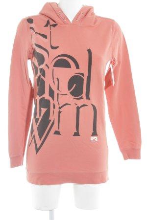G-Star Raw Kapuzensweatshirt hellrot-schwarz Schriftzug gedruckt Casual-Look
