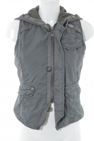G-Star Raw Chaleco con capucha gris look Street-Style