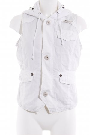 G-Star Raw Hooded Vest white casual look