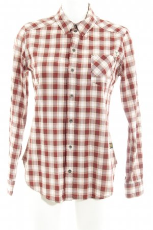 G-Star Raw Blouse à carreaux rouge brique-abricot motif à carreaux