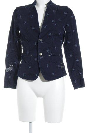 G-Star Raw Kurz-Blazer blau-hellblau Sternenmuster Elegant