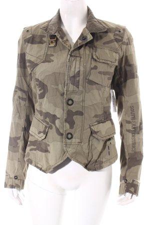 G-Star Raw Kurzjacke khaki-grüngrau Camouflagemuster Military-Look