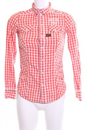 G-Star Raw Langarm-Bluse rot Allover-Druck Casual-Look