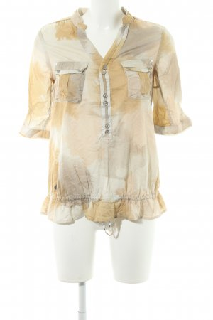 G-Star Raw Langarm-Bluse creme Farbtupfermuster Casual-Look