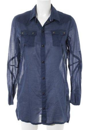 G-Star Raw Langarm-Bluse dunkelblau-blau Business-Look