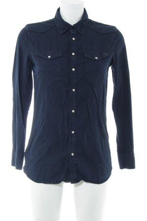 G-Star Raw Langarmhemd blau Casual-Look