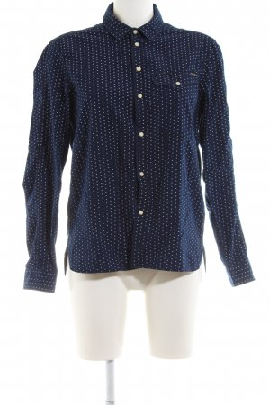 G-Star Raw Langarmhemd blau-weiß Punktemuster Business-Look