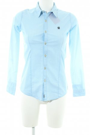 G-Star Raw Langarmhemd himmelblau Streifenmuster Business-Look