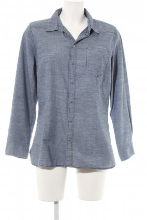G-Star Raw Langarmhemd stahlblau meliert 80ies-Stil