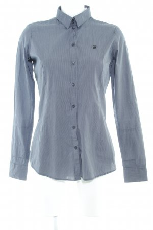 G-Star Raw Langarmhemd wollweiß-taupe Streifenmuster Business-Look