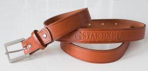 G-Star Leather Belt brown-cognac-coloured leather