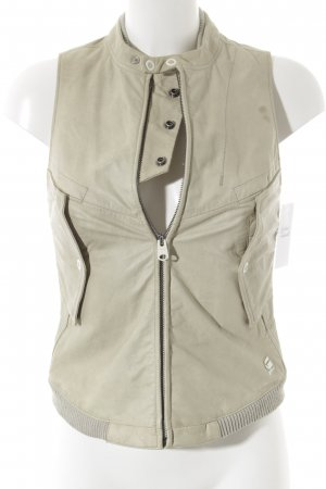 G-Star Raw Leather Vest oatmeal casual look