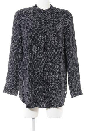 G-Star Raw Long-Bluse dunkelblau-wollweiß Punktemuster Street-Fashion-Look