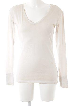 G-Star Raw Longshirt creme meliert Casual-Look