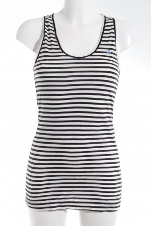 G-Star Raw Long Top white-black striped pattern casual look