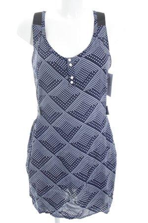 G-Star Raw Minikleid dunkelblau-weiß Punktemuster Casual-Look
