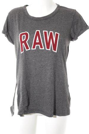 G-Star Raw Print-Shirt grau-taupe meliert Casual-Look