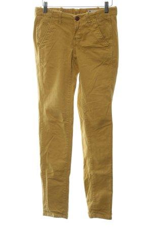 G-Star Raw Drainpipe Trousers dark yellow embroidered logo