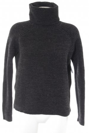 G-Star Raw Turtleneck Sweater taupe weave pattern casual look
