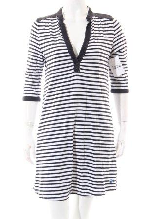 G-Star Raw Shirtkleid weiß-dunkelblau Streifenmuster Casual-Look