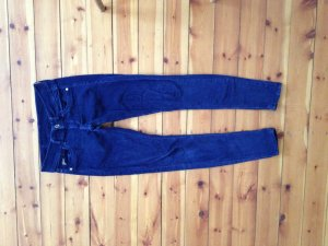 Gstar Pantalon en velours côtelé bleu-bleu foncé coton