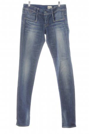 G-Star Raw Skinny Jeans blau Bleached-Optik