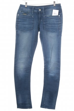 G-Star Raw Skinny Jeans blau Street-Fashion-Look