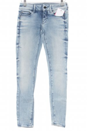 G-Star Raw Skinny Jeans blau-weiß Casual-Look