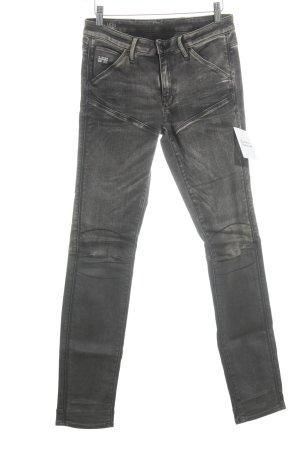 G-Star Raw Skinny Jeans creme-graubraun schlichter Stil