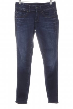 G-Star Raw Skinny Jeans dunkelblau-blassblau Washed-Optik