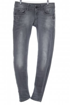 G-Star Raw Skinny Jeans grau Used-Optik