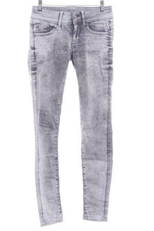 G-Star Raw Skinny Jeans hellgrau-grau Farbverlauf Street-Fashion-Look