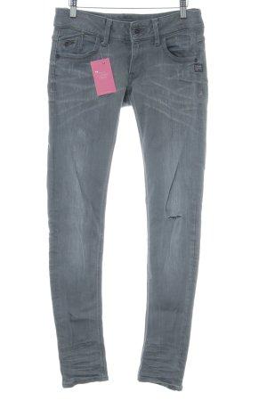 G-Star Raw Skinny Jeans hellgrau Used-Optik