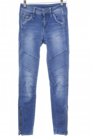 G-Star Raw Skinny Jeans himmelblau Biker-Look