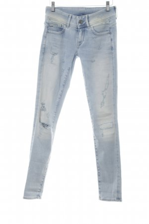 G-Star Raw Skinny Jeans himmelblau Destroy-Optik