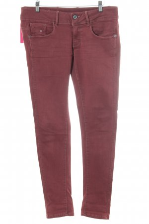G-Star Raw Skinny Jeans rot Casual-Look