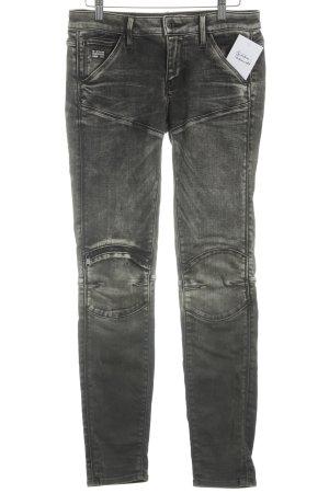 G-Star Raw Skinny Jeans schwarz-creme Bleached-Optik
