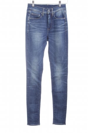 G-Star Raw Skinny Jeans stahlblau-dunkelblau Street-Fashion-Look
