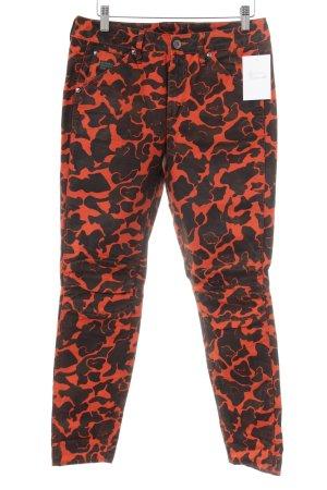 G-Star Raw Skinny Jeans taupe-neonorange Camouflagemuster extravaganter Stil