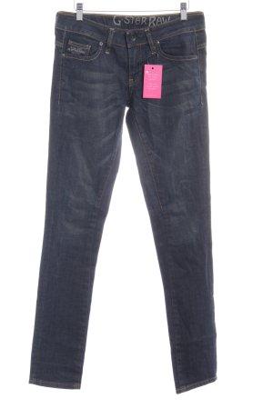 G-Star Raw Slim Jeans dunkelblau-graubraun Casual-Look