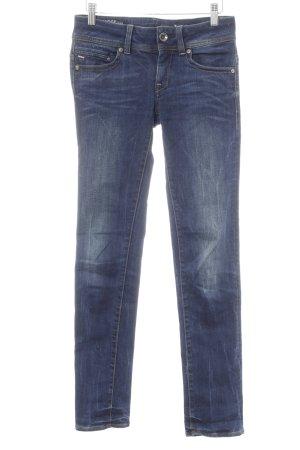 G-Star Raw Slim Jeans dunkelblau-silberfarben Casual-Look