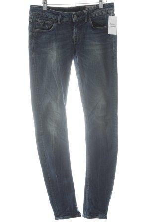 G-Star Raw Slim Jeans dunkelblau-wollweiß Casual-Look