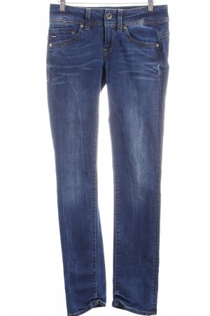 G-Star Raw Slim Jeans dunkelblau-wollweiß Washed-Optik