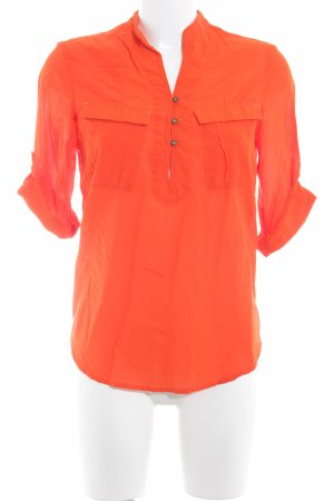G-Star Raw Stehkragenbluse neonorange Casual-Look