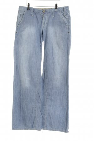 G-Star Raw Stoffhose himmelblau Farbtupfermuster Jeans-Optik
