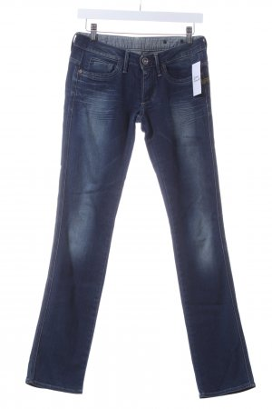 G-Star Raw Straight-Leg Jeans blau-wollweiß Casual-Look