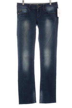 G-Star Raw Straight-Leg Jeans blau-wollweiß Washed-Optik
