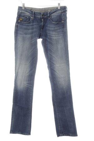 G-Star Raw Straight-Leg Jeans dunkelblau-graublau Used-Optik